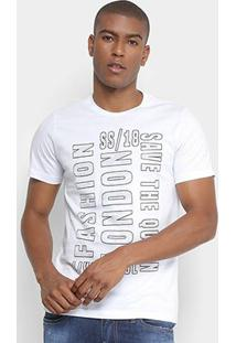 Camiseta All Free London Masculina - Masculino-Branco