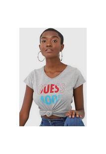 Camiseta Guess Mood Cinza
