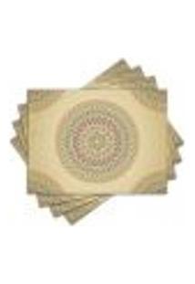 Jogo Americano - Mandala Com 4 Peças - 1117Jo