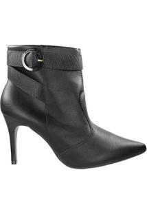Bota Firezzi Ankle Boot Feminina - Feminino-Preto