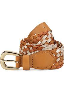 Cinto Couro Shoestock Tressê Mix Feminino