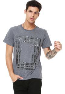 Camiseta Fiveblu Manga Curta London Cinza