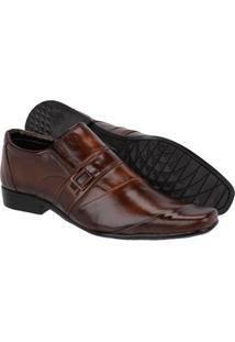 Sapato Social Masculino Em Couro Leoppé - Masculino-Marrom