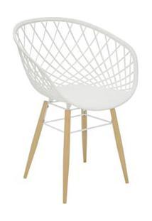 Cadeira Sidera Em Poliamida Com Pernas De Madeira Branca - Tramontina