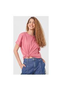 Camiseta Colcci Eco Soul Rosa
