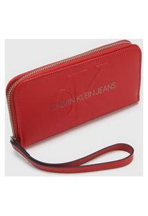 Carteira Logo Calvin Klein Vermelha
