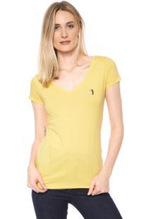 Camiseta Aleatory Básica Amarela