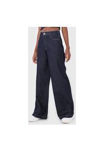 Calça Jeans Colcci Pantalona Pespontos Azul