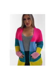 Cardigan Colorido Fec Fashion Blogueira
