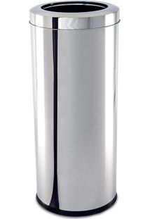 Lixeira Decorline Com Aro- Inox- 28L- Brinoxbrinox