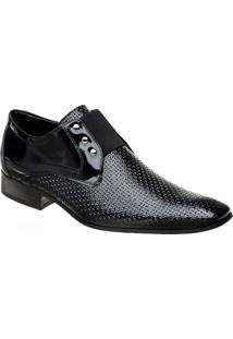 Sapato Masculino Em Couro Verniz Bigioni - Masculino-Preto