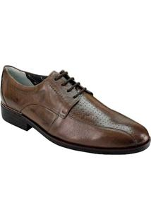 Sapato Social Masculino Derby Sandro Moscoloni Hoggan Marrom