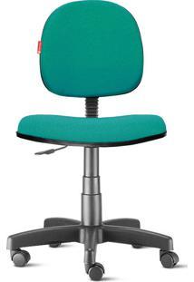 Cadeira Executiva Giratória Crepe Verde Agua