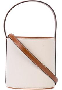 Staud Bolsa Bucket Clássica - Branco