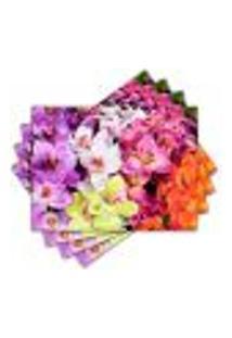 Jogo Americano - Flores Com 4 Peças - 425Jo