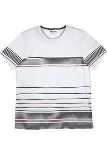 Camiseta Masculina Hering Com Estampa Listrada