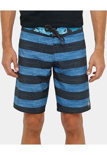 Bermuda Quiksilver Stripe Brigg Pocket Masculina - Masculino