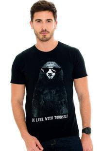 Camiseta Lavish Urso Be Lvsh With Yourself Preta