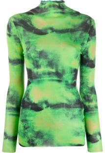 Versace Blusa Tie-Dye Gv - Verde