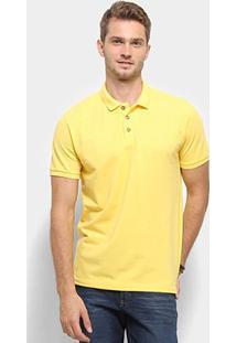 Camisa Polo Reserva Novo Mescla Básica Masculina - Masculino-Amarelo