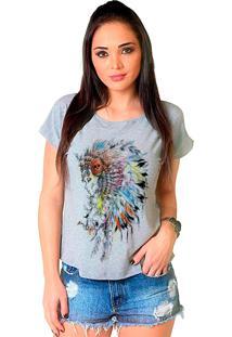 Camiseta Shop225 Apache Mescla - Cinza - Feminino - Dafiti