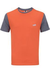 Camiseta Hd Basic Fit - Masculina - Laranja