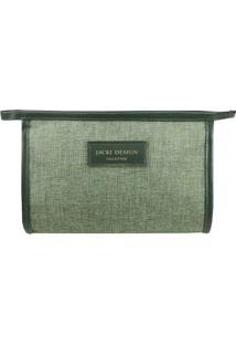 Nécessaire Envelope- Verde Claro & Verde Escuro- 15Xjacki Design