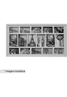 Painel Para 16 Fotos- Incolor & Branco- 48X83Cmkapos