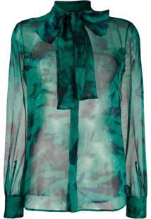 Dsquared2 Blusa Com Laço Na Gola - Verde