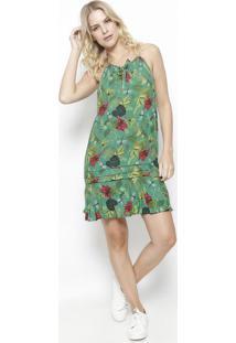 ceb0e064b ... Vestido Nadador Floral- Verde & Rosa- Colccicolcci