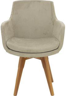 Cadeira Fixa Liss Beige - 54X59X59