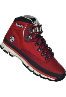 Bota Timberland Euro Hiker - Masculino-Vermelho+Preto