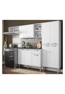 Cozinha Compacta Xangai 9 Portas Multimóveis Branco Branco