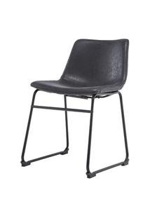 Cadeira Turtle Assento Courino Preto Com Base Aco Preto - 50877 Preto
