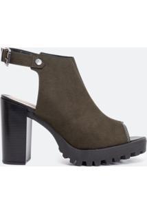 Sapato Feminino Fake Sued Gáspea Moleca