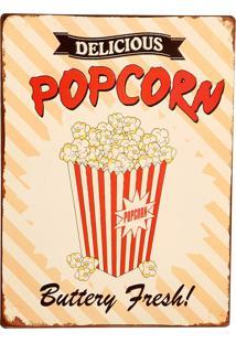 Quadro Decorativo De Parede Vintage Popcorn