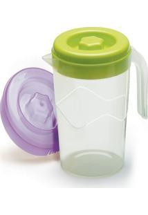 Jarra De Suco Com Tampa 1,6 Litros Plástico