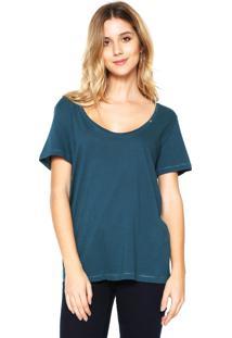 Camiseta Zoomp Decote U Azul