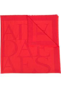 Escada Echarpe Com Logos - Vermelho