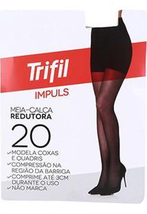 Meia Calça Redutora Trifil Impuls Fio 20 - Feminino-Preto