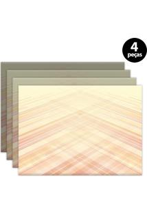 Jogo Americano Mdecore Abstrato 40X28Cm Laranja 4Pçs
