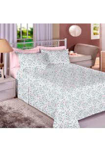 Jogo De Cama Percal 180 Fios Queen Premium Linea - Appel - Confetes