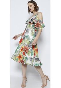9d9ebf2d0 Vestido Floral Laranja feminino | Starving
