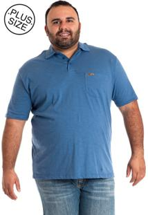 Camisa Polo Konciny Plus Size Azul