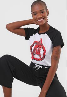 Camiseta Cativa Marvel Avengers Branca - Branco - Feminino - Algodã£O - Dafiti