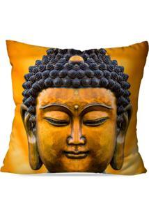 Capa De Almofada Avulsa Decorativa Buda Yellow 35X35Cm