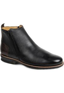 Bota Dress Boot Masculina Sandro & Co Floater Good - Masculino-Preto