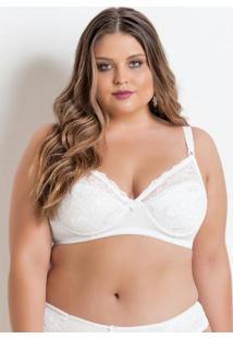 c5d29d985 Sutiã Sem Bojo Branco Plus Size Christian Gray