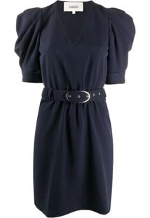 Ba&Sh Vestido Com Cinto - Azul