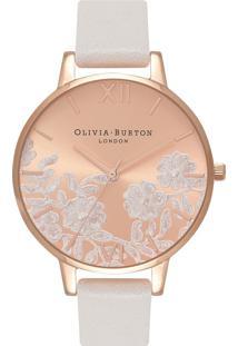 Relógio Olivia Burton Feminino Couro Rosa - Ob16Mv53